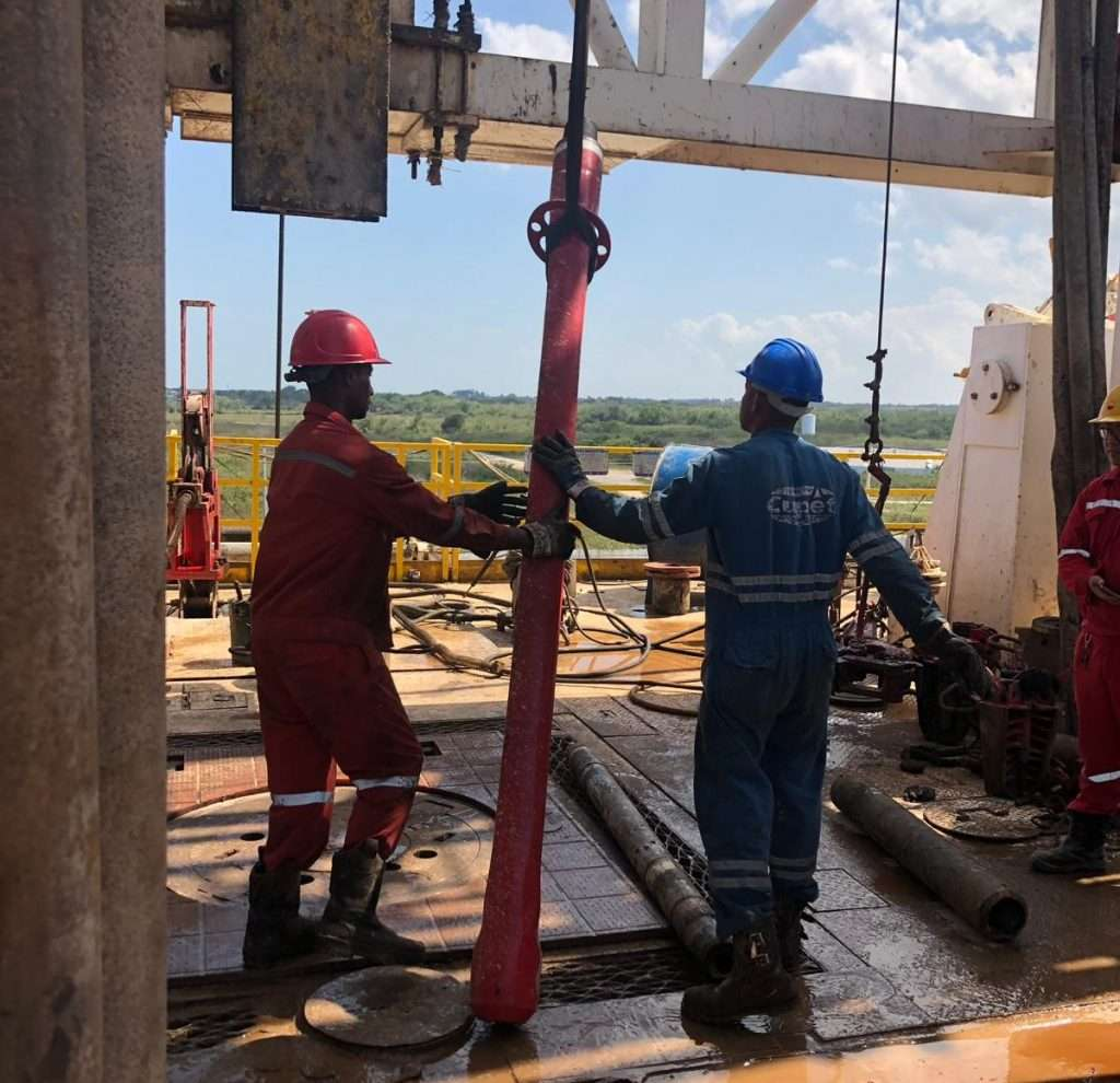 whipstock anchor being set up in wellbore